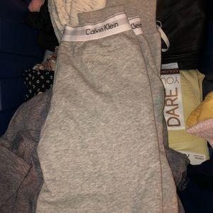 Gray Calvin Klein Sweatpants